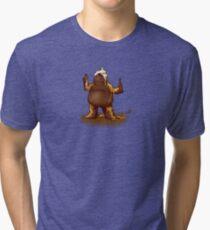 STICKY TOFFEE PUDDING GOLEM Tri-blend T-Shirt