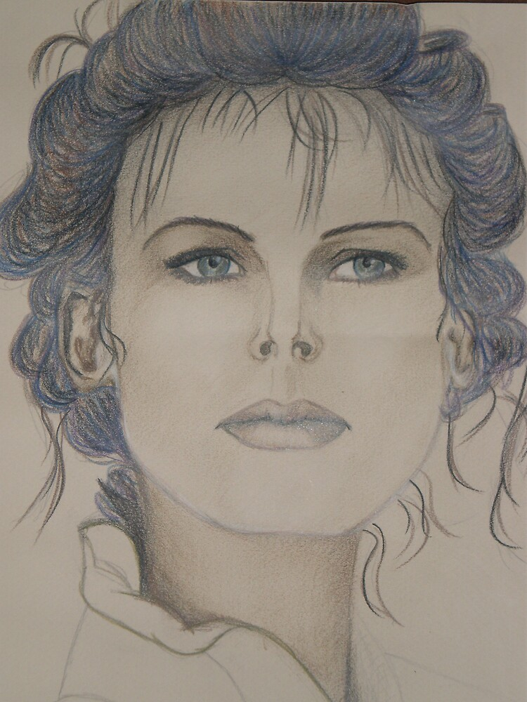 lady in colored pencil by Samoore