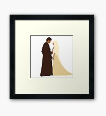 Anakin and Padme Framed Print