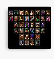 Mortal Kombat Trilogy - Character Select Canvas Print
