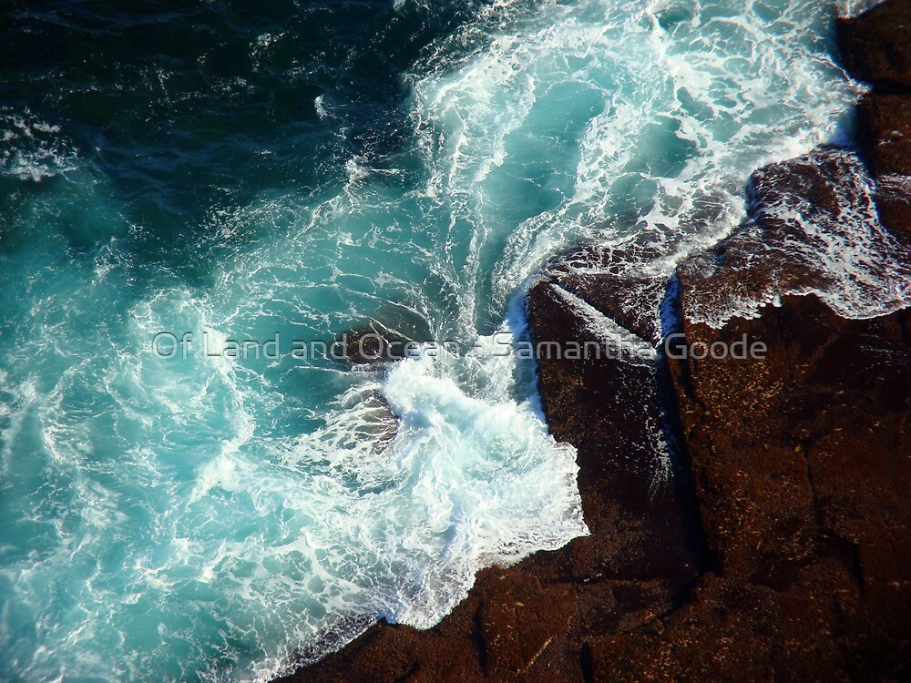 Salty water & rocks by Of Land & Ocean - Samantha Goode