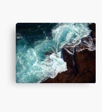 Salty water & rocks Canvas Print