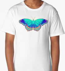 Colorful Butterfly Long T-Shirt