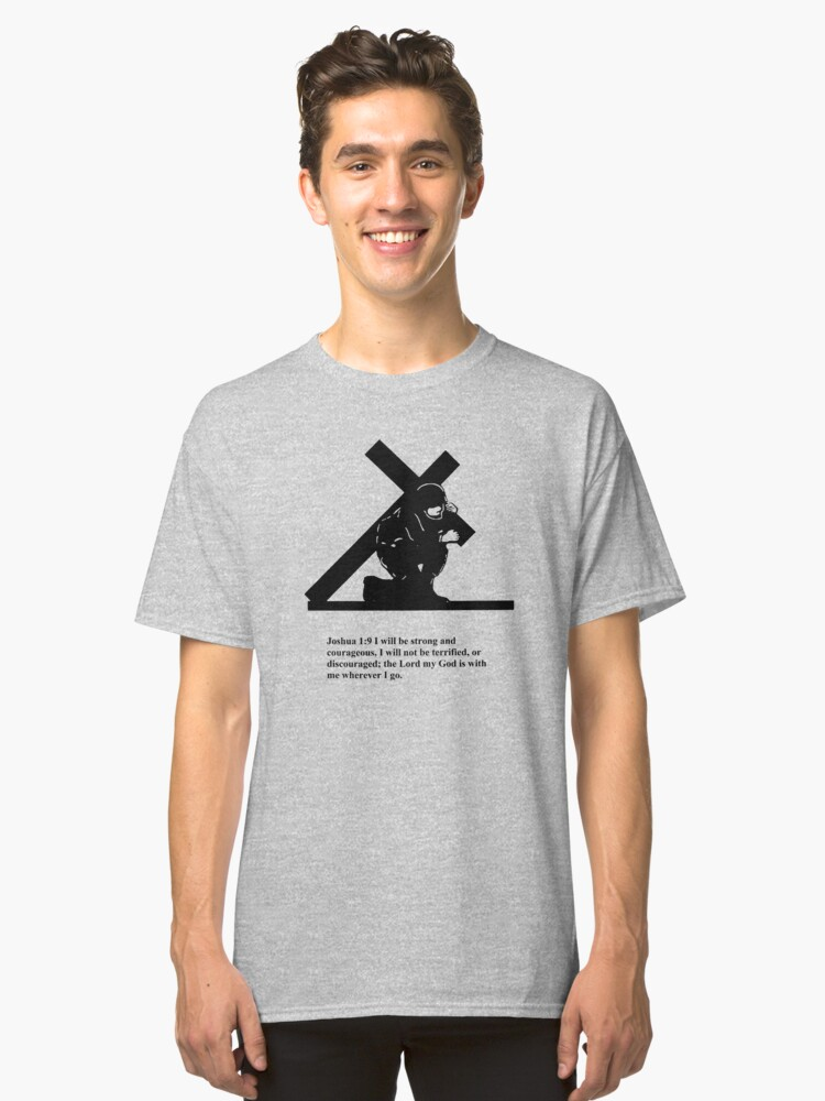 Soldier Bearing Cross Classic T-Shirt Front