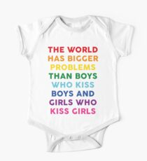 The World Has Bigger Problems  Short Sleeve Baby One-Piece