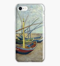 Fishing boats By Vincent van Gogh 1888  iPhone Case/Skin