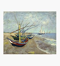 Fishing boats By Vincent van Gogh 1888  Photographic Print