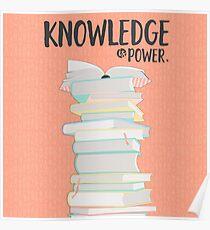 Wissen ist Macht Poster