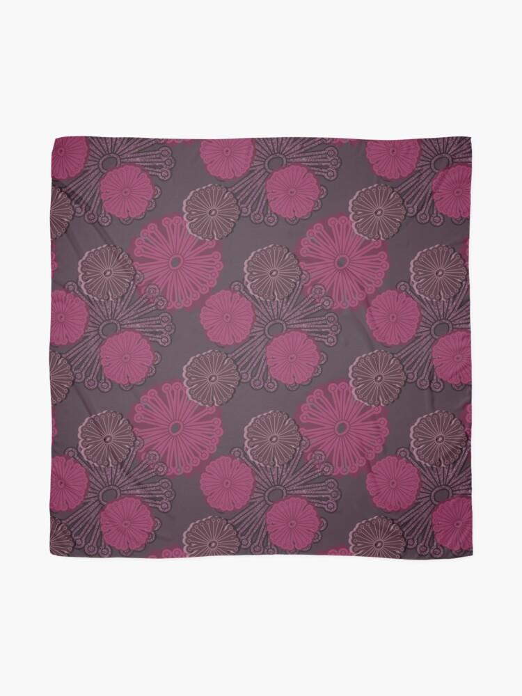 Alternate view of Fuchsia Flower Pattern Scarf