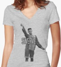 Will Smith Swerve Women's Fitted V-Neck T-Shirt