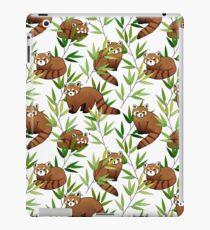 Red Panda & Bamboo Leaves Pattern iPad Case/Skin