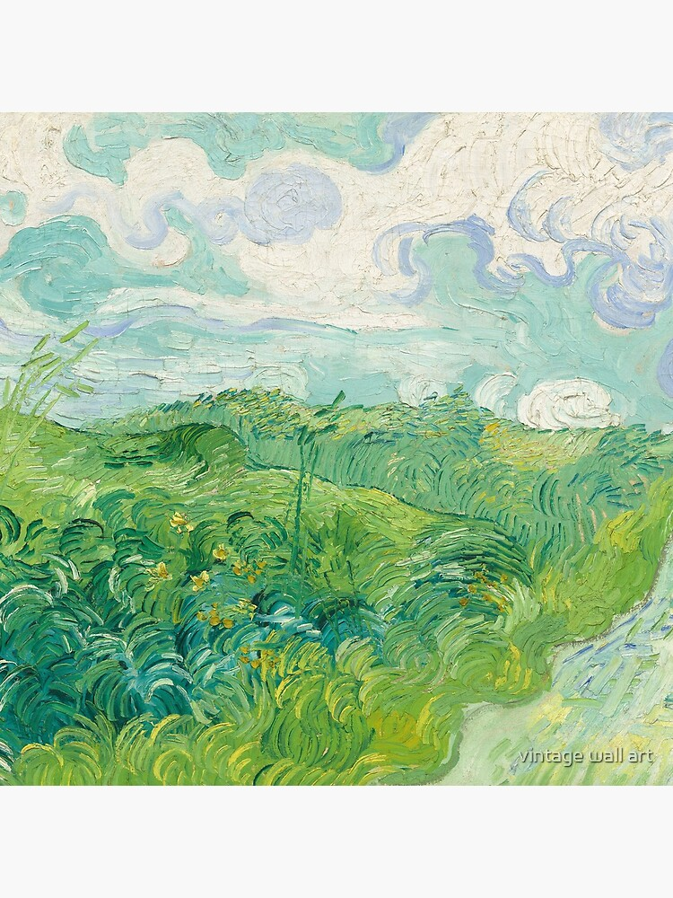 Vincent Van Gogh Green Wheat Fields, Auvers 1890  by fineearth