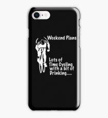 Funny Cycling Design - Lots Of Time Cycling With A Bit Of Drinking iPhone Case/Skin
