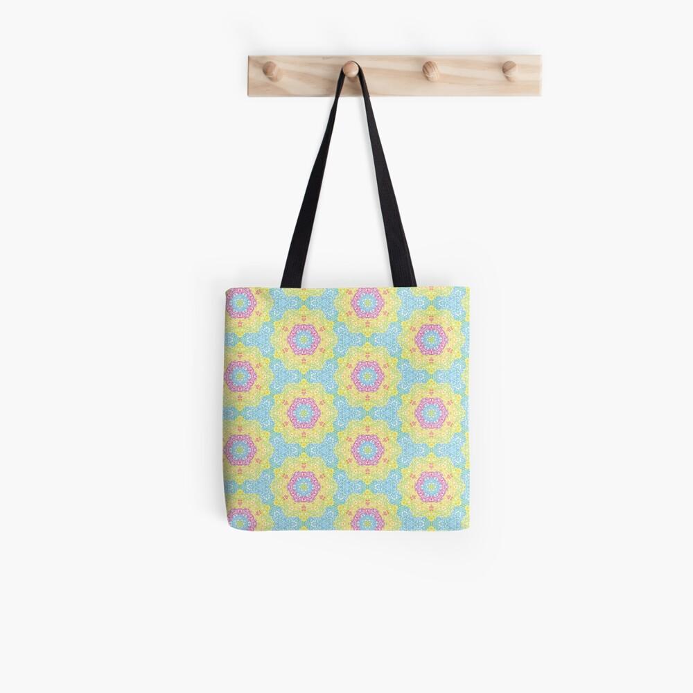 Pointilize Rainbow Burst Pattern Tote Bag