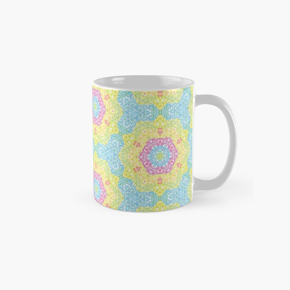 Pointilize Rainbow Burst Pattern Mug