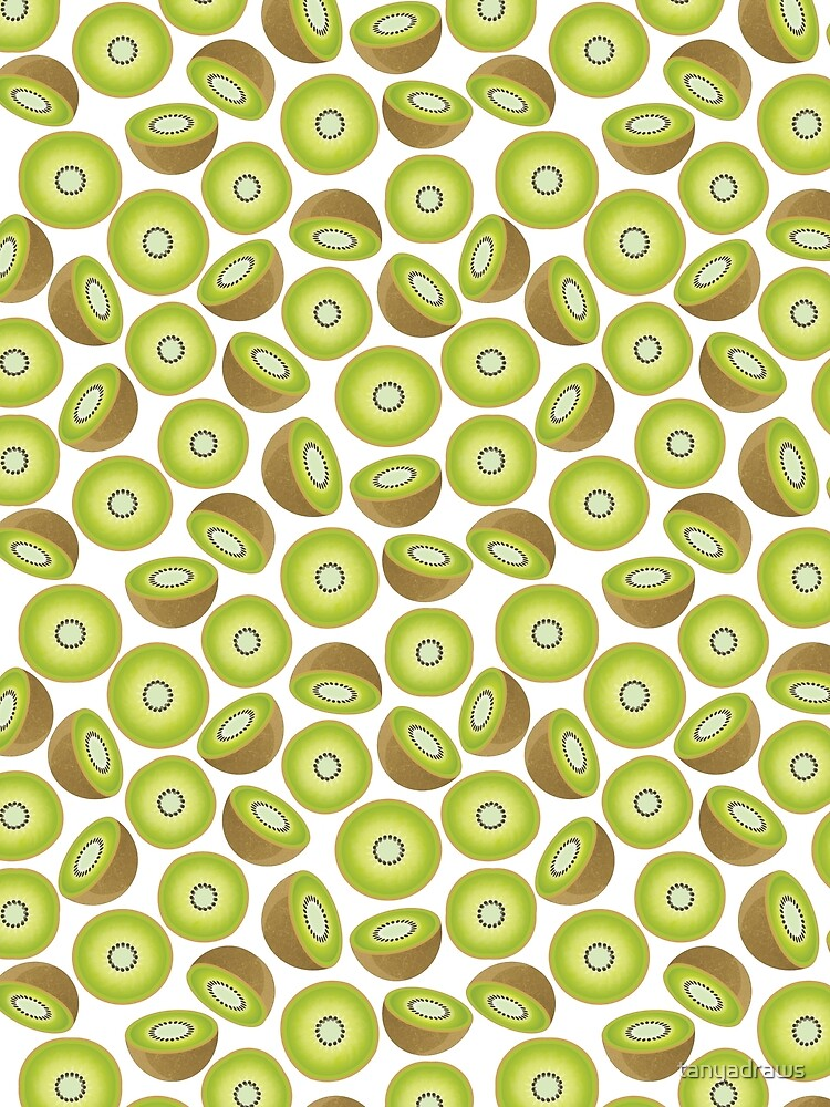 Cute Cut Kiwi Pattern by tanyadraws