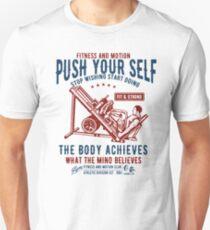 Gym Motivational Quote - Retro Vintage Unisex T-Shirt