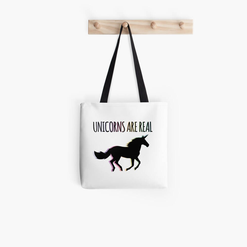 Unicorns are Real Rainbow Version Tote Bag