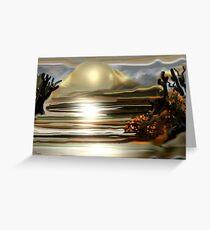 Sun rise on the Desert Southwestern Abstract Art Greeting Card