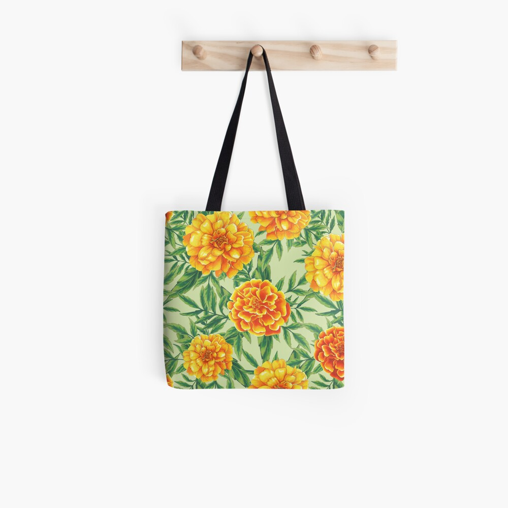 Marigold Pattern Tote Bag