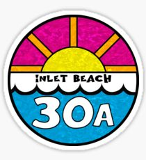 Inlet Beach Florida 30A Emerald Coast Beach Ocean Vacation Sticker