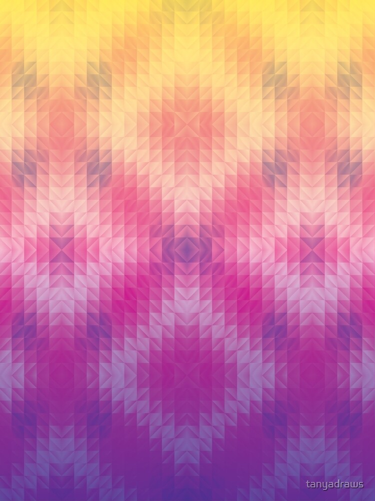 Ombre Sunset Geometric Pattern by tanyadraws