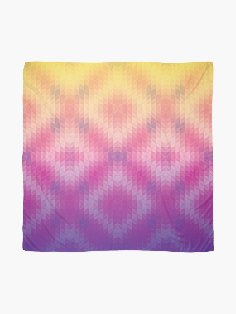 Alternate view of Ombre Sunset Geometric Pattern Scarf