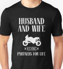 Husband And Wife Riding-Out Partners For Life Couples  T-Shirt