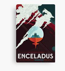 NASA Retro Space Travel Poster #3 - Enceladus Canvas Print