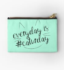 Everyday is #Caturday Zipper Pouch