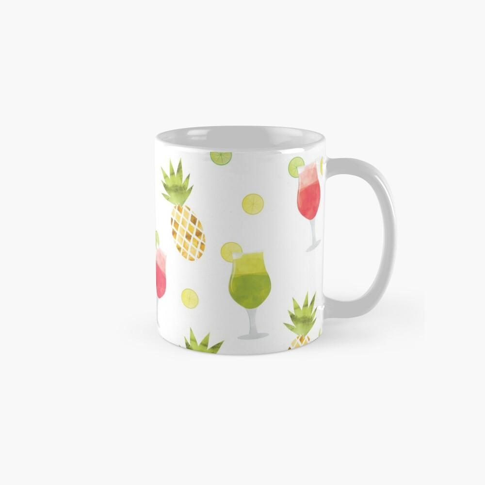 Tasty Tropical Summer Fruits Pattern Mug