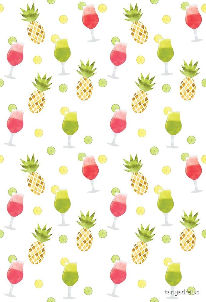 Tasty Tropical Summer Fruits Pattern by tanyadraws