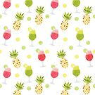 Tasty Tropical Summer Fruits Pattern by tanyadraws