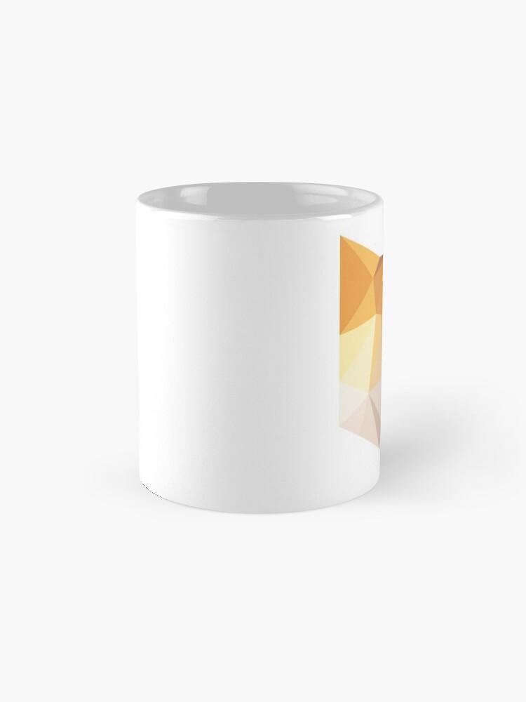 Alternate view of Geometric Orange Cat Face Mug