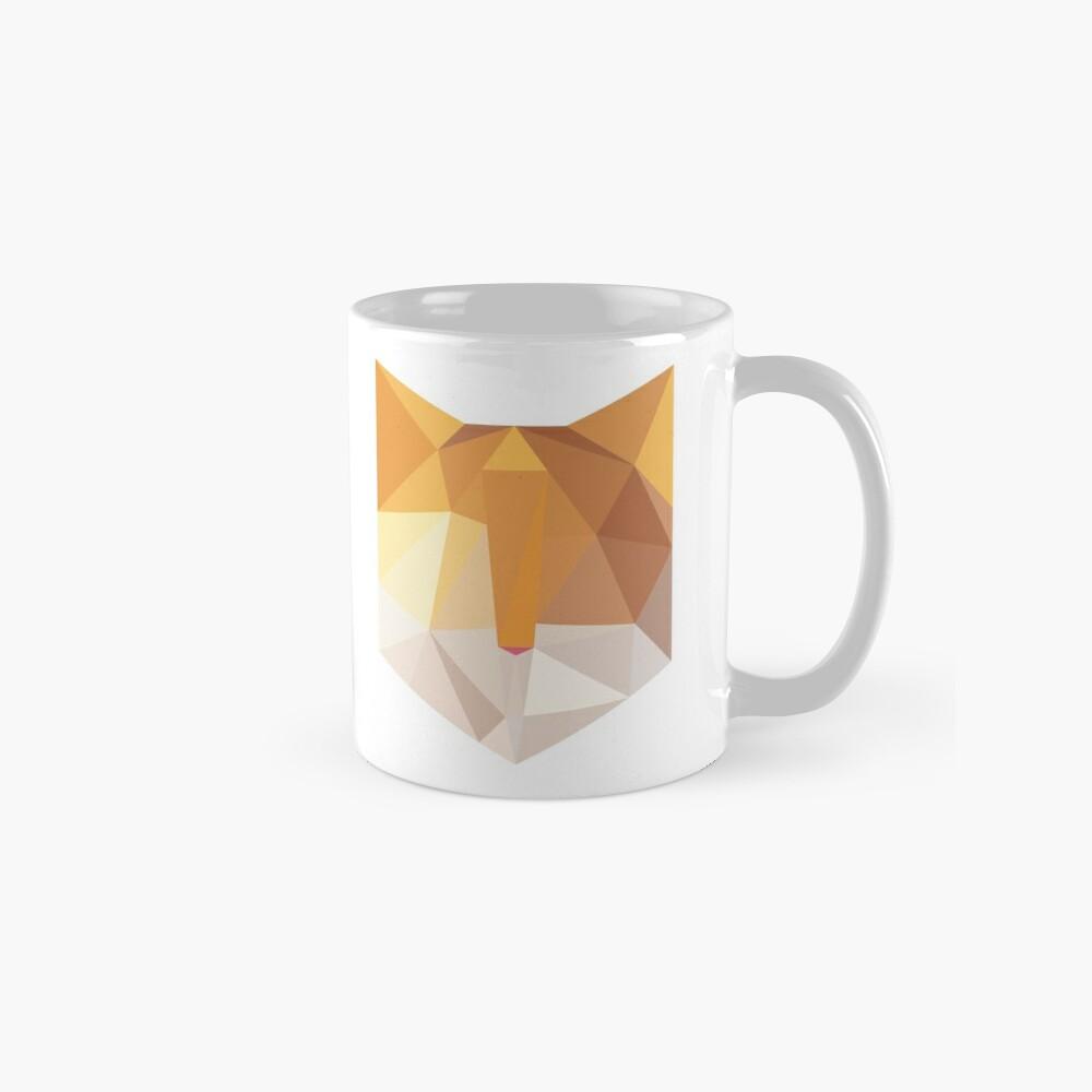 Geometric Orange Cat Face Mug