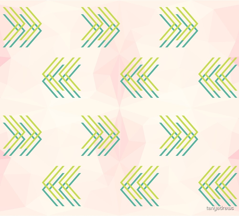 Watermelon themed Geometric Pattern by tanyadraws