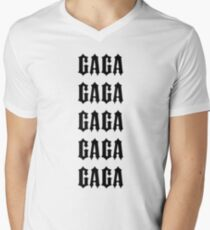 GAGA (BLACK) - Sisters Apparel Inspired Men's V-Neck T-Shirt