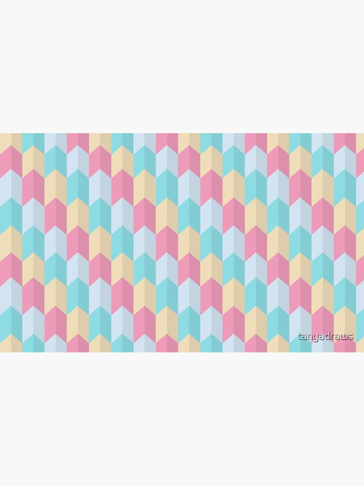 Retro Pastels Geometric Pattern by tanyadraws
