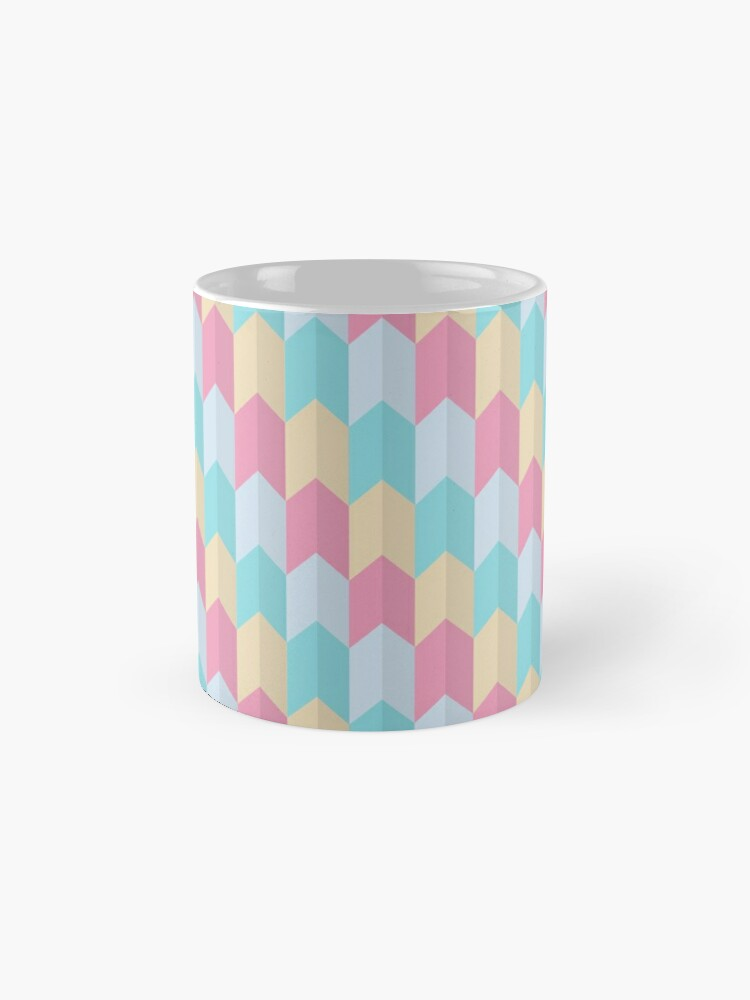 Alternate view of Retro Pastels Geometric Pattern Mug