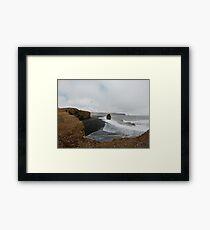 Icelandic Beach View Framed Print