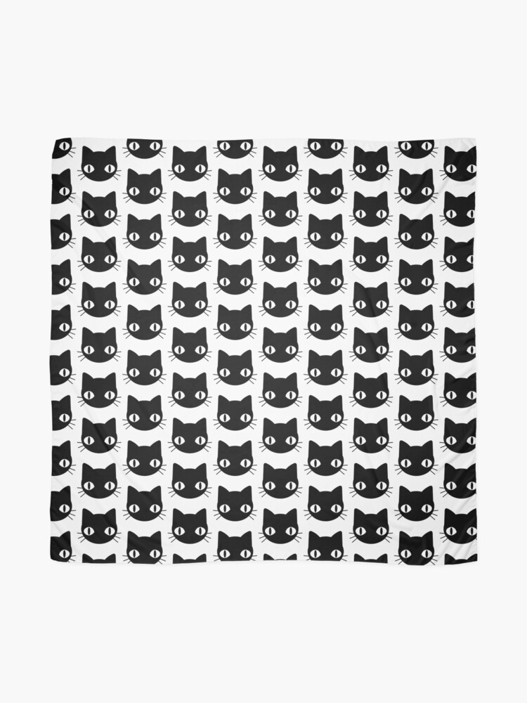 Alternate view of Cute & Freaky Black Cat Face Scarf