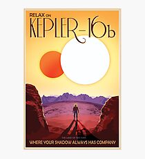 NASA Retro Space Travel Poster #8 Kepler 16b Photographic Print