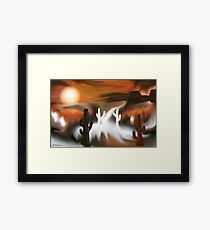 Southwest Fire and Ice Abstract Art Framed Print