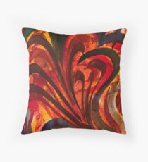 Random Strokes Watercolor Abstract Throw Pillow