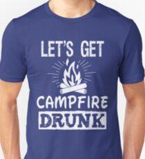 Let's Get Campfire Drunk vintage distressed retro t shirt T-Shirt