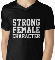 Strong Female Character Feminism Men's V-Neck T-Shirt