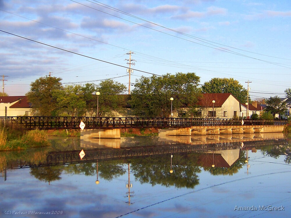 Dam Reflections by Amanda McGreck