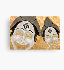Punu Comedy And Tragedy (2011) Canvas Print