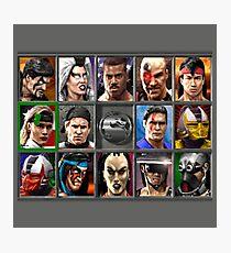 Mortal Kombat 3 Character Select  Photographic Print