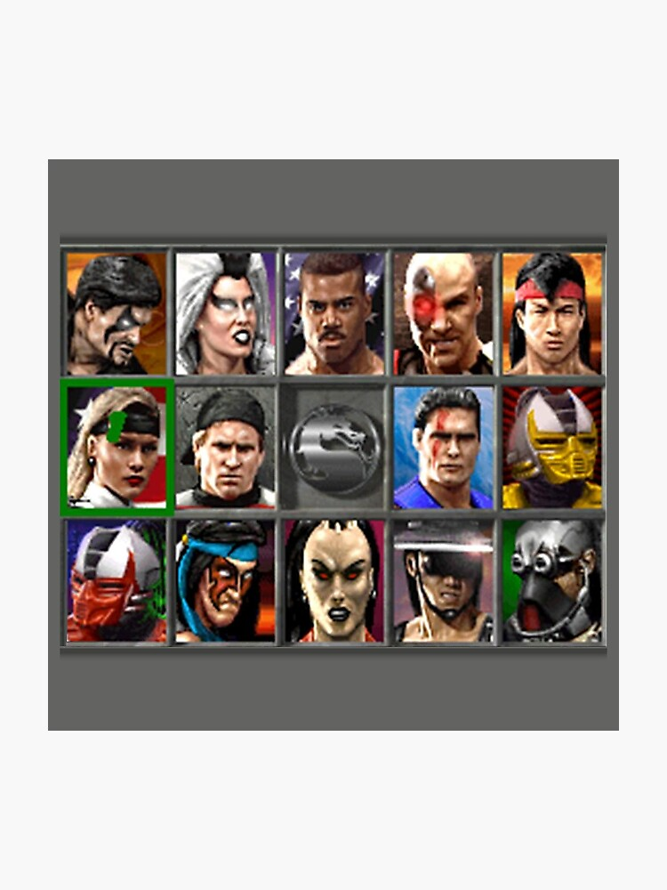 Mortal Kombat 3 Character Select | Photographic Print